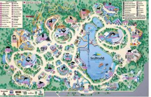 Map of Sea World Orlando